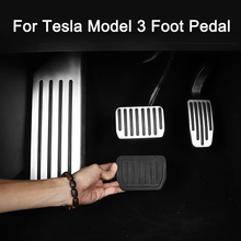New Arrival Car Foot Pedal for Tesla Model 3 Accelerator Gas Fuel Brake Pedal Pads Mats Cover Accessories Car Styling new arrival car foot pedal for tesla model 3 accelerator gas fuel brake pedal pads mats cover accessories car styling