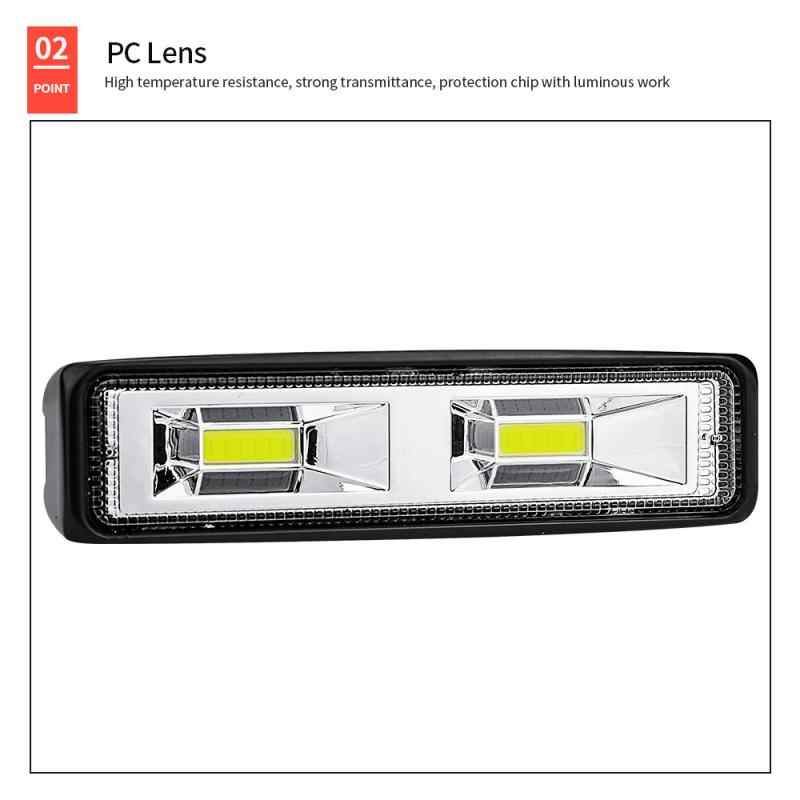 Car SUV 2-LED Work Driving Fog Light 12V 24V Daytime Running Spotlight Off-Road.