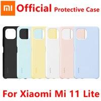 Funda de silicona oficial para Xiaomi Mi 11 Lite, funda trasera de PU con pegamento suave y amigable con la piel