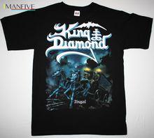KING DIAMOND ABIGAIL MERCYFUL FATE HEAVY METAL ACCEPT SAXON NEW BLACK T-SHIRT Summer Short Sleeves New Fashion T-Shirt