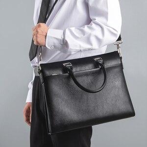 Image 2 - TIANSE กระเป๋าเอกสารผู้ชายกระเป๋าหนังแท้กระเป๋าแล็ปท็อปธุรกิจ Tote สำหรับเอกสารสำนักงานแบบพกพากระเป๋าแล็ปท็อป