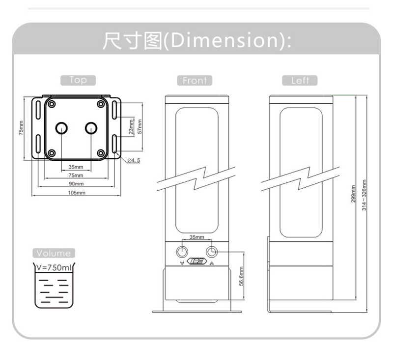 IceManCooler su soğutma ARGB Tank Combo D5 pompası, rezervuar braketi ile, + 5V 3PIN ışık başlığı destek Sync anakart, siyah