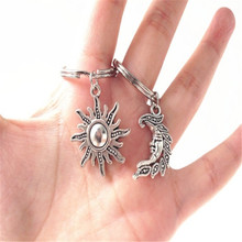2-piece Set of New Sun and Moon Combination Pendant Keychain Sun Keychain Moon Keychain Good Friend Friendship Gift