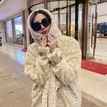 Fur Coat Trend White Winter Women Leopard for Long Thickened Young-Style Autumn Baby