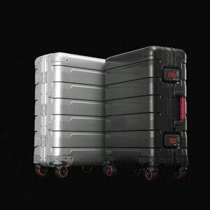 Image 5 - Neue 20/24 zoll retro alle aluminium magnesium legierung gepäck spinner tragen auf internat business trolley koffer mode koffer