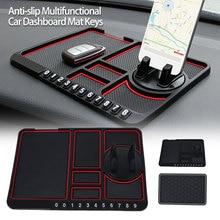 Non-slip Pad Car Organizer Plate Keys Dashboard Sticky Mat Universal Anti-slip Auto Mobile Phone Holder Interior Stand Silicone