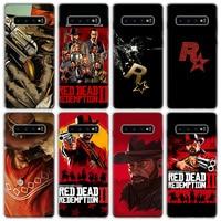 Red Dead Redemption 2 Caja del teléfono para Samsung Galaxy S7 S8 S9 S10 S10E S20 S21 FE Nota 8 9 10 20 Ultra J4 J6 J8 Plus Lite de cubierta