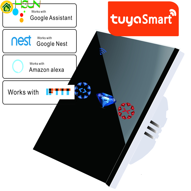 Smart Home WiFi Electrical Touch Blinds Curtain Switch Tuya APP Voice Control By Alexa Echo For Mechanical Limit Blinds Motor