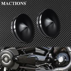 2xMotorcycle Swingarm Bolts Cover Aluminum Black For Harley V-Rod 2006-2017 Night Rod Special Muscle VRSCF VRSCR VRSCD VRSCAW