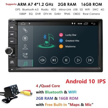 Best Wifi Model Android10.0 Quad-Core 7 Inch Touch-screen Universal Car Stereo Video Receiver GPS Double 2 din GPS Navigation BT