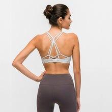 Beaux soutiens-gorge hauts de sport d'entraînement à bretelles femmes nu-sensation sans fil Yoga Fitness soutiens-gorge rembourrés hauts athlétiques