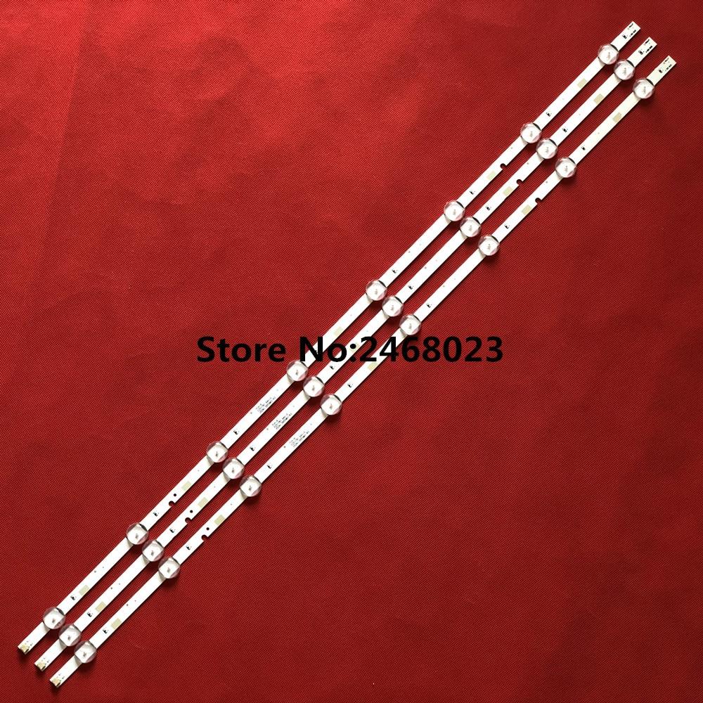 3pcs X LED Backlight Strips For Sam Sung UA40FK21EAJXXZ HG40ND460 Ue40j5200 V5DN-395SM0-R2 LM41-00121X BN96- 37622A 8-LEDs 774mm