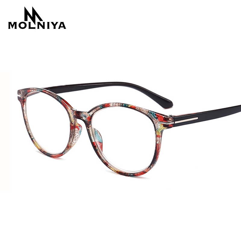 Round Reading Glasses Women Men Lightweight Presbyopic Printing Reading Glasses +0.5 0.75 1.0 1.25 1.5 1.75 2.0 2.5 3.0 3.5 4