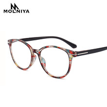 Óculos de leitura redondos para mulheres e homens, óculos para leitura com estampa presbiopia leve + 0.5 0.75 1.0 1.25 1.5 1.75 2.0 3.5 4 4 4