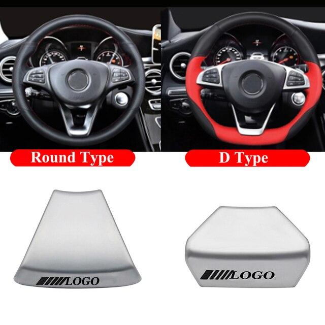 For Mercedes Benz AMG C E Class GLA GLC CLS Car Logo Badge Steering Wheel Upgrade Emblem Decoration Trim Sticker Accessories New