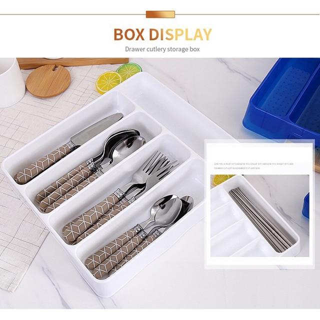عملي درج درج منظم ملعقة السكاكين الفصل التشطيب صندوق تخزين أدوات المائدة المنظم اكسسوارات المطبخ المنظم