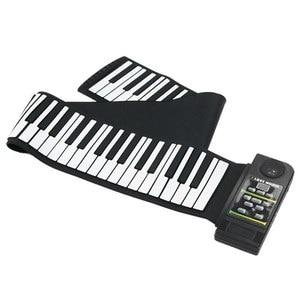 Image 5 - 88 tasti In Silicone Flessibile Mano Roll Up Pianoforte Morbido Portatile Tastiera Organo Elettronico di Musica del Regalo Per I Bambini Studente