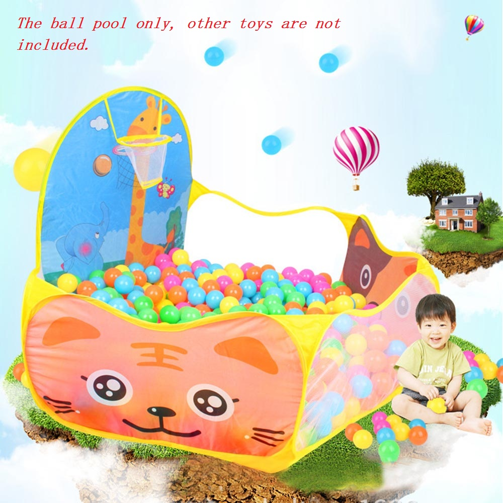 Foldable Cartoon Outdoor Sports Playground Kids Children Ocean <font><b>Ball</b></font> Pit <font><b>Pool</b></font> <font><b>Baby</b></font> Tent <font><b>Ball</b></font> Basket Gaming Toys Educational Toy image