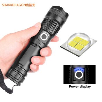 XHP50 High-power LED flashlight USB rechargeable Tactical zoom 5 lighting mode camping hunting torch use 18650 or 26650 battery