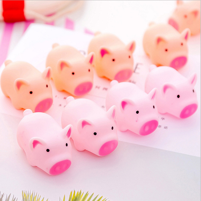 1PC Cute Soft Rubber Screaming Pig Squeeze Sound Squeaky Toy Toys For Children Stationery Kids Gift