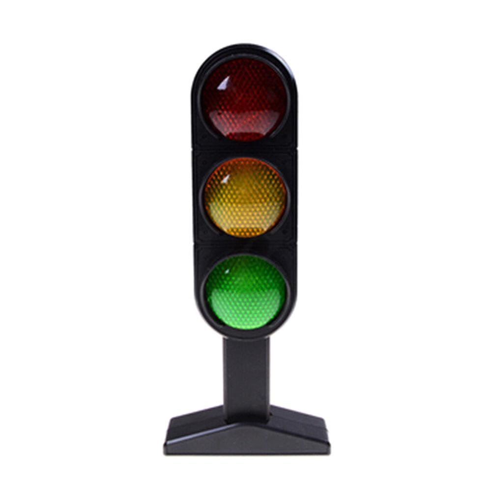 Road Street Traffic Light Sign Model With LED Sound Kids Role Play Toy Gift