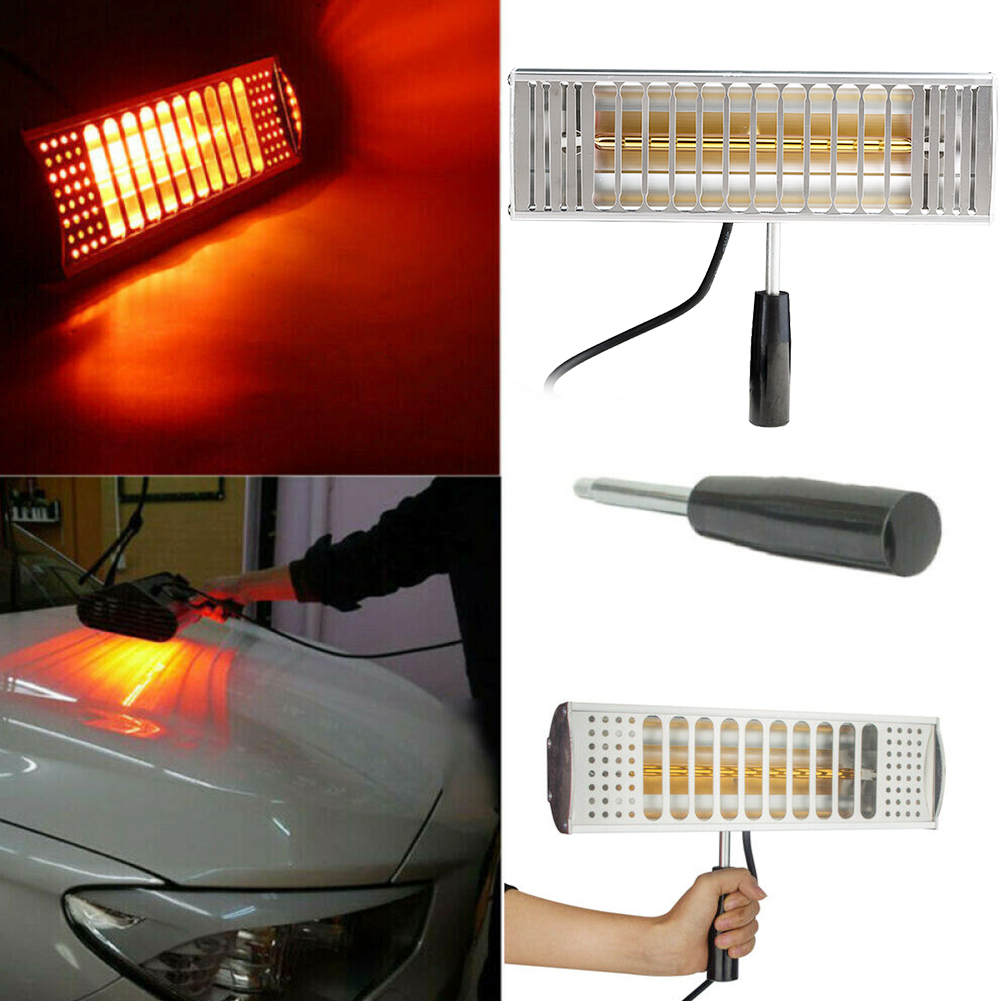 1000W Repair Light Wave Drying Spray Auto Baking Exhaust Filter Handheld Solar Film Paint Curing Lamp Car Body Infrared Heating