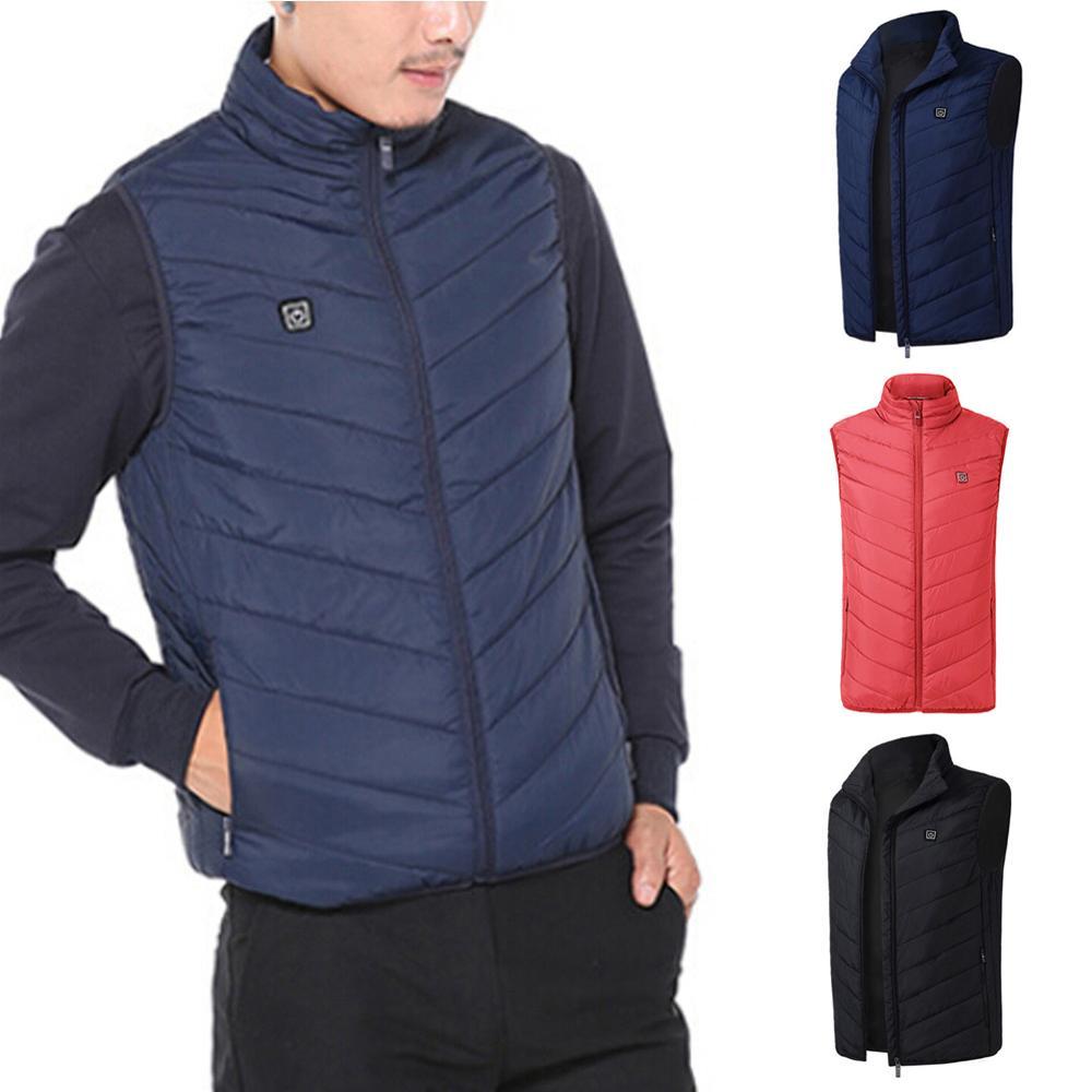 8 мест с подогревом жилет мужчины женщины USB с подогревом куртка обогрев жилет M-6XL термобелье одежда охота жилет зима обогрев куртка черный