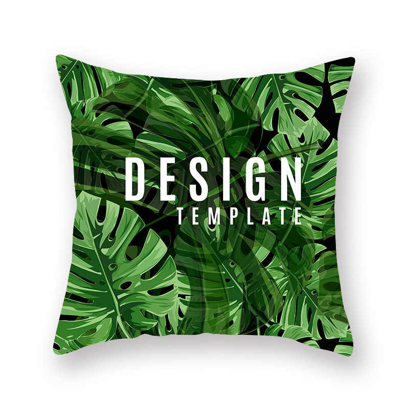 Fai da te Personalizzati Decorativo Coperte E Plaid Cuscini Custodie Foresta Pluviale Tropicale Verde Foglia di Monstera Foglia di Palma Cuscini del Divano Fodere Per Cuscini Divano Auto