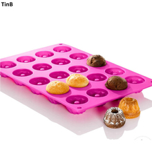 20 Hole Gugelhupf Silicone Cake Mold Baking Molds Muffin Cupcake Pan Mini Savarin Silicone Baking Tray Bakeware Mould Cake Tools