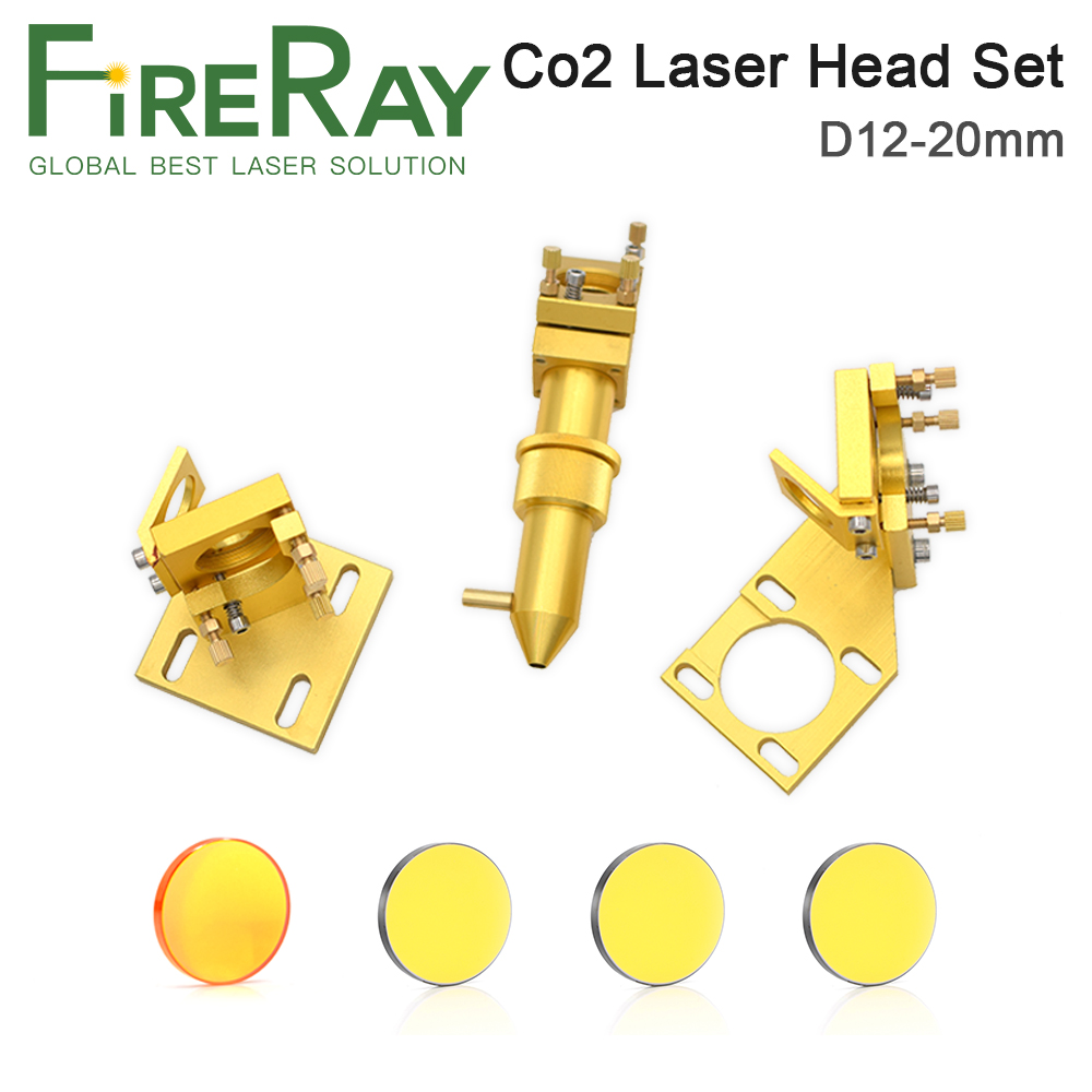 Fireray CO2 Laser Head Set For 2030 4060 K40 K Series Laser Engraving Cutting Machine