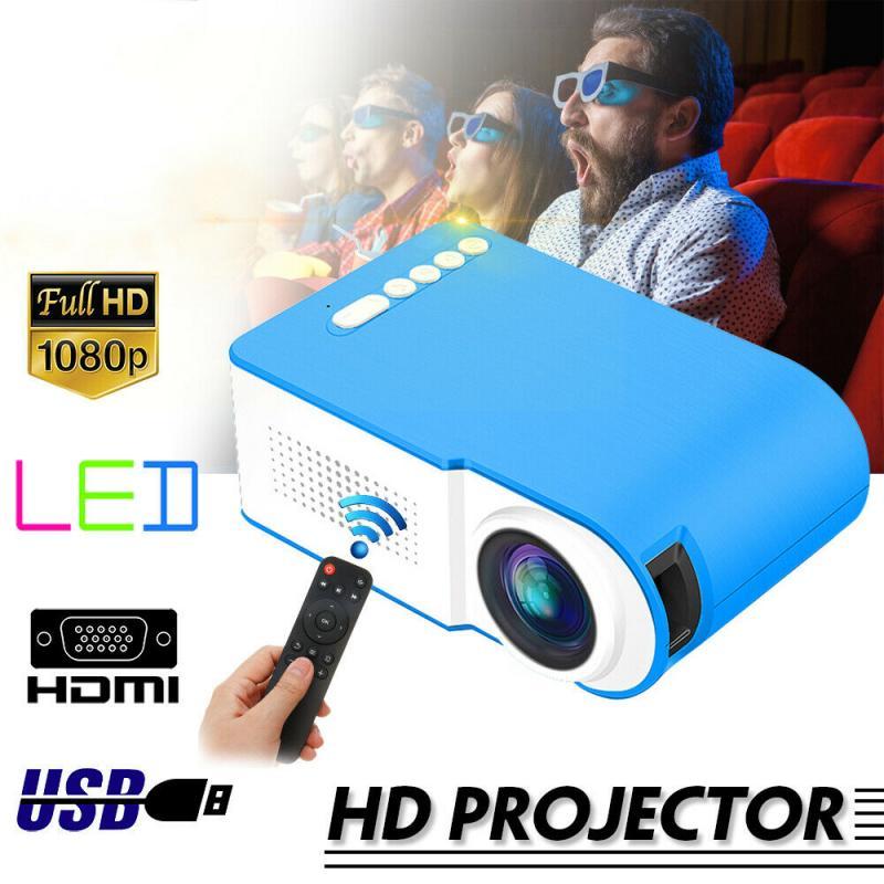 7000 Lumens 1080P Mini LED Projector Home Cinema Theater Video Multimedia USB