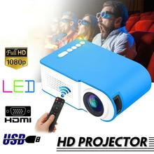7000 Lumens 1080P Mini LED Projector Home Cinema Theater Video Multimedia USB