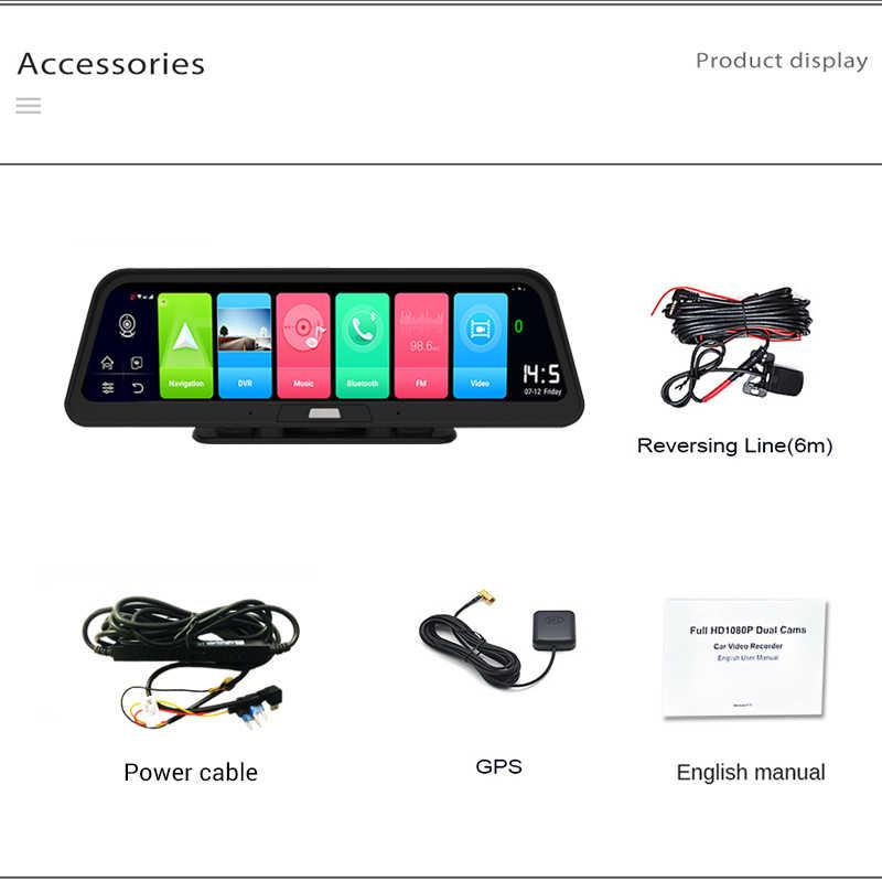 LDZDSEE 4G ADAS wideorejestrator samochodowy kamera na deskę rozdzielczą pełna kamera HD1080P napęd wideo rejestrator samochodowy rejestrator 9.88 ''Android GPS kamera tylna
