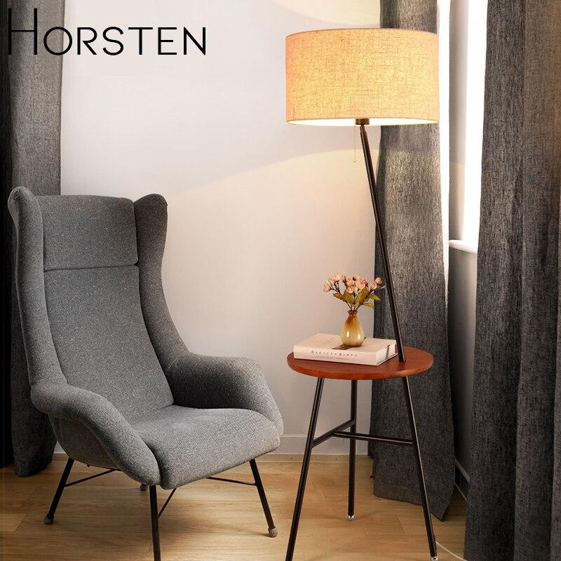Horsten японский скандинавский стиль торшер простой креативный напольный светильник для гостиной диван домашний Декор Светильник ing E27 110 220 В