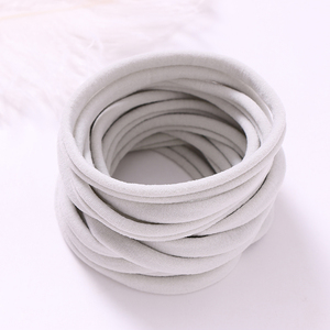 Image 5 - 100 ชิ้น/ล็อตใหม่Super Soft TracelessยืดบางผอมไนลอนHeadbandsสำหรับBebeเด็กหญิงฐานHeadbandอุปกรณ์เสริมผม