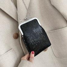Metallic Design Shining Fashion Ladis Clutch Bag Purses And Handbags Shoulder Chain Bag Crossbody Mini Bag Female Evening Bag