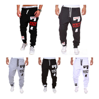 HEFLASHOR Pants 2019 New Men 7 Letter Print Sweatpants Joggers Male Loose Cotton Hip Pop Casual Trousers Pants Plus Size