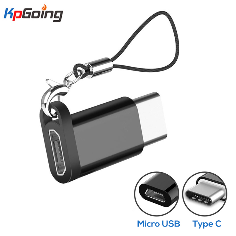 Key Chain Adapter Micro USB Female To USBC Male Converter For Huawei Mate 20 X Pro P20 Samsung S9 Micro Usb To Type-C Charger