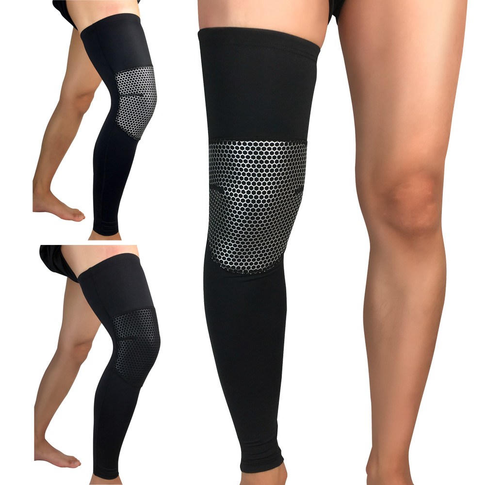 Sports Protective Gear Basketball Fitness Protection Knee Pads Thigh Leg Sleeve
