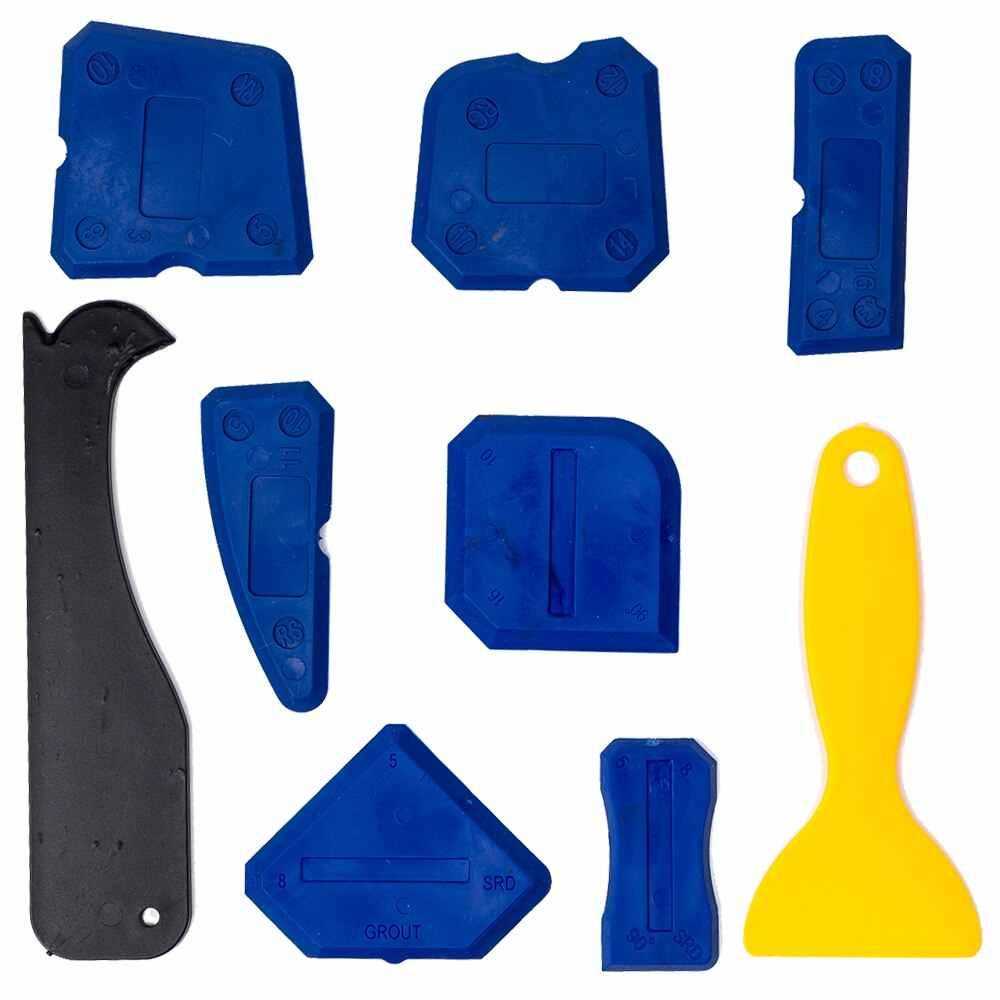 4/5/9pcs Jendela Pintu Sealant Silikon Penyebar Spatula Pengikis Cement Caulk Removal Tool Finishing Sealant Nat kit Caulking #1