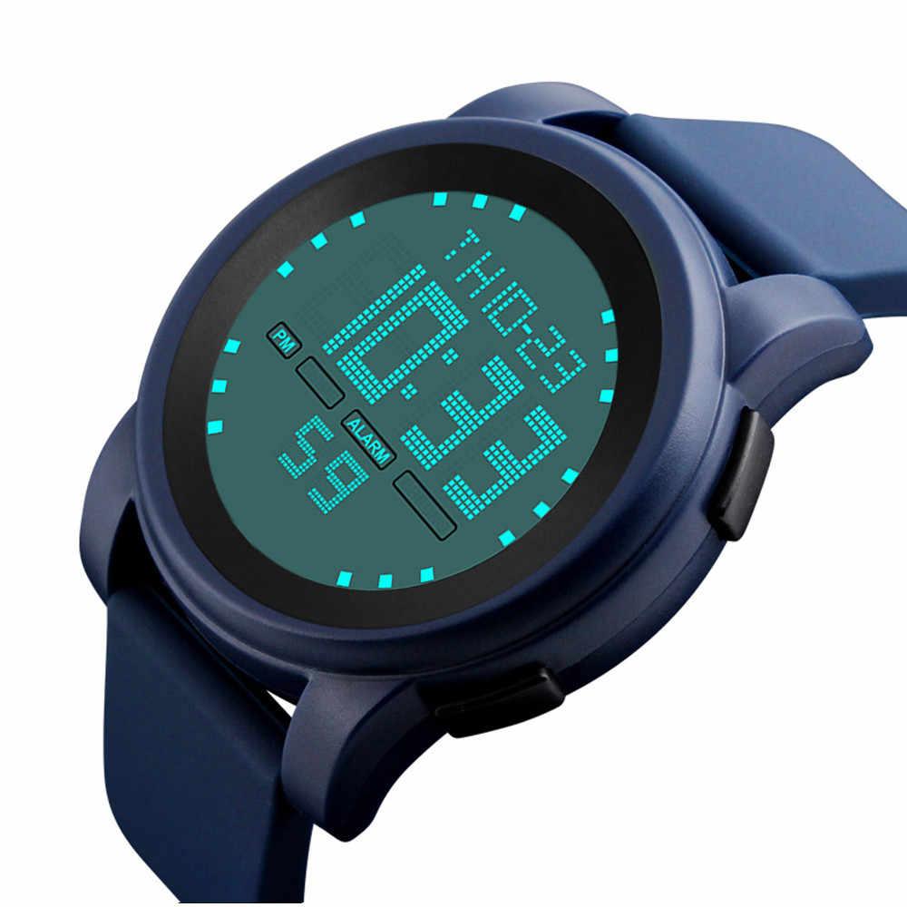 Relojes de pulsera deportivos al aire libre profesionales para hombres relojes de pulsera de moda LED de cuarzo Digital resistente al agua de lujo militar relojes de Fecha
