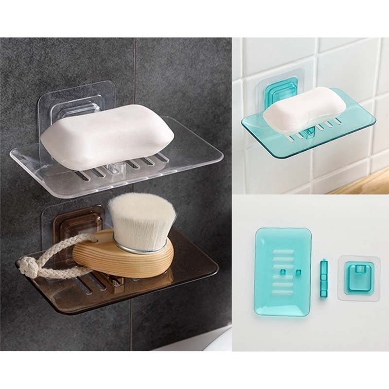 13.4CM*8.7CM Dishes Sponge Drain Bathroom Holder Wall Organizer Mounted Storage Rack Soap Box Kitchen Hanging Shelf New X