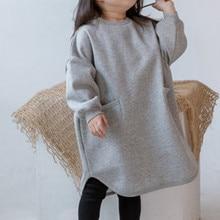 Платье-Свитер для маленьких девочек Новинка года; сезон осень-зима; Детские платья для девочек; повседневные пуловеры для малышей; топы; рождественское платье для маленьких девочек