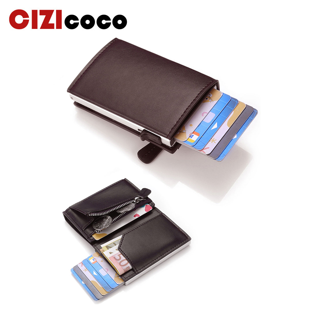 2020 New Credit Card Wallet porte carte RFID Anti-theft Fashion Card Case Holder Men and Women Coin Purse