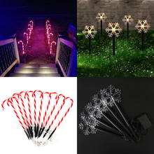 Lights Christmas-Light Candy Cane Decor String Snowflake Garden Outdoor New-Year Pathway