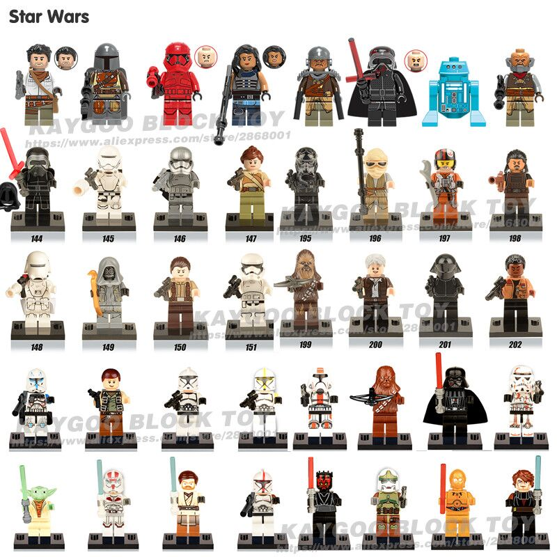 Star Series Space War Darth Vader BB8  Skywalker Kit Fisto Sabine Rey Luke Obi-Wan Yoda Legoing Building Blocks Gifts Toys