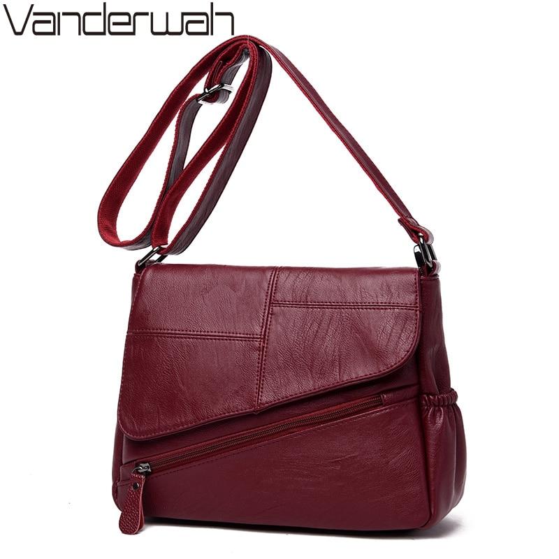 Hot Leather Luxury Handbags Women Bags Designer 2018 Women Messenger Bags Bolsa Feminina Sac A Main Femme Ladies Shoulder Bag