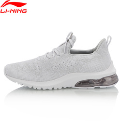 Li-Ning Women BUBBLE UP II Lifestyle Shoes Mono Yarn Breathable Air Cushion LiNing li ning Sport Shoes Sneakers AGCN084
