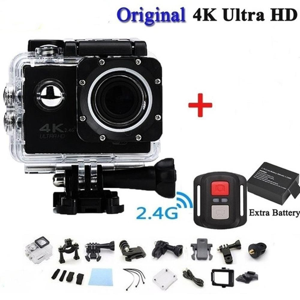 <font><b>4K</b></font> Telecomando Camera Wifi Ultra Hd 16mp Waterproof Videocamera <font><b>DVR</b></font> Sports Outdoor Diving Bicycle Camcorder image