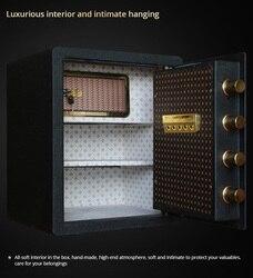 Veilig 45cm alle stalen vingerafdruk wachtwoord huishoudelijke kleine muur anti-diefstal alarm elektronische kluis